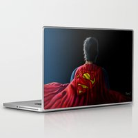 man of steel Laptop & iPad Skins featuring Man of Steel by Anthony Mwangi