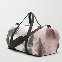 Black and white forest Duffle Bag