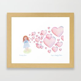 Sending Love Framed Art Print