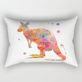 Colorful Kangaroo Rectangular Pillow