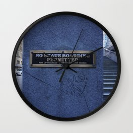Not Permitted Wall Clock