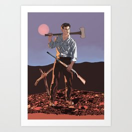 Ash with boomstick Art Print