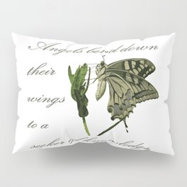 Angels Bend Down Their Wings To A Seeker Of Knowledge Pillow Sham