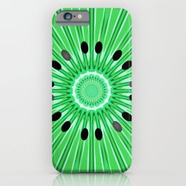 Digital art kiwi iPhone Case
