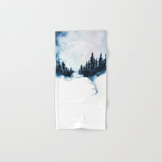Winter Watercolor Hand & Bath Towel