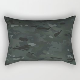 Camouflage: Black Rectangular Pillow