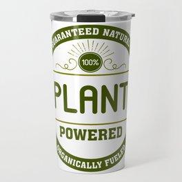 100% Plant Powered & Organically Fueled Green Badge Travel Mug