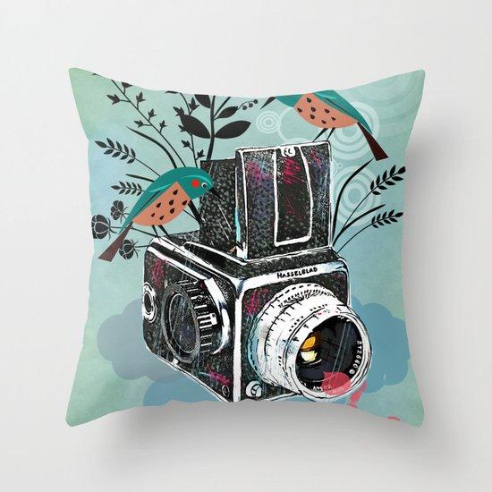 Vintage Camera Hasselblad Throw Pillow