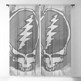 S.Y.F. Black and White Sheer Curtain
