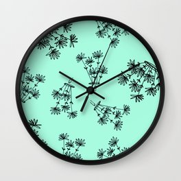 mint flower eaters Wall Clock