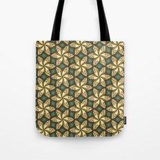 Flower Pattern Yellow/Deep Green Tote Bag