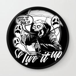 Live It Up Grim Reaper Wall Clock