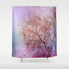 UP TO THE SKY Shower Curtain