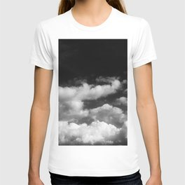 Clouds in black and white T-shirt