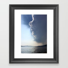 The Rain is Coming Framed Art Print