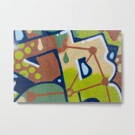 graffiti painting closeup - graffiti artwork Metal Print