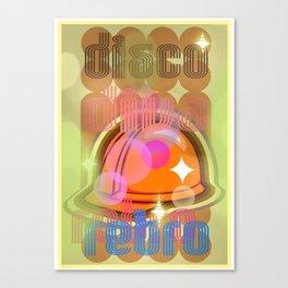 Disco Retro Canvas Print