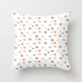 Cat Family (Smaller Cats) Throw Pillow