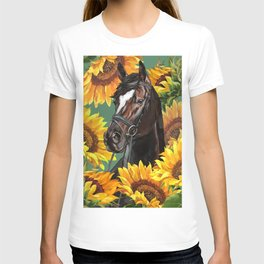Horse with Sunflowers T-shirt