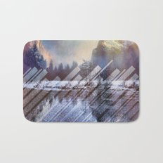 Winter Sun Rays Abstract Nature Bath Mat