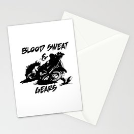 Blood Sweat and Gears Stationery Cards