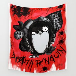 Death Penguin Wall Tapestry