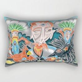 the cardinal and the crow Rectangular Pillow
