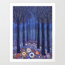 Blueforest Art Print