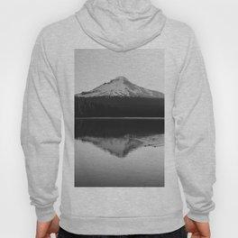 Wild Mountain Sunrise - Black and White Nature Photography Hoody