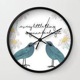 Three Little Birds, Part 2 Wall Clock