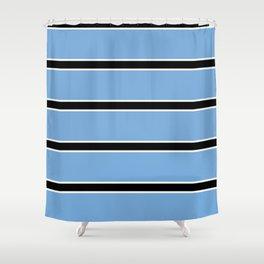 Abstraction from the flag of bostwana-kalahari,gaborone,batswana,motswana,tswana,kalanga Shower Curtain