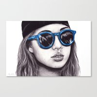 coachella Canvas Prints featuring Coachella  by Bella Harris