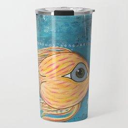 Fish In Blue Travel Mug