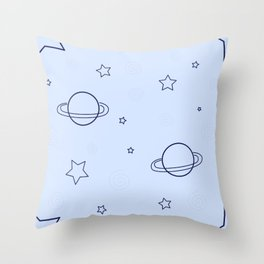 Simple space pattern Throw Pillow