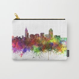 Raleigh skyline in watercolor background Carry-All Pouch