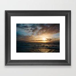 The Pacific Ocean at Sunset // Fort Stevens State Park, Oregon Framed Art Print