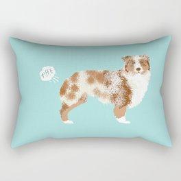 Australian Shepherd red merle funny dog fart Rectangular Pillow