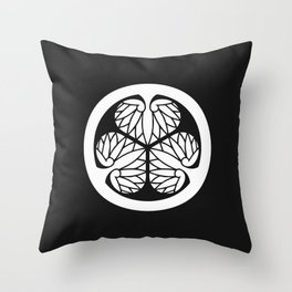 Tokugawa Clan · White Mon Throw Pillow