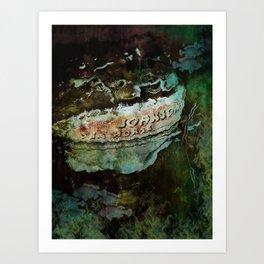 Boat motor Art Print