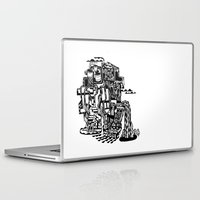 cafe Laptop & iPad Skins featuring CAFE by TortueMasquee