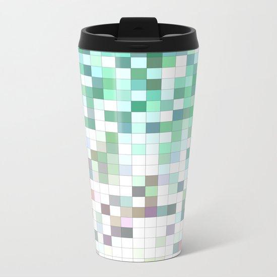 Light bathroom mosaic Metal Travel Mug