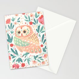 Little Pink Owl Stationery Cards