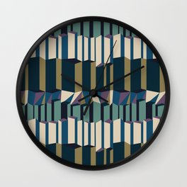 Straight Geometry City 2 Wall Clock