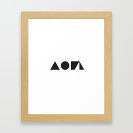 SIMPLE PATTERN_03 Framed Art Print