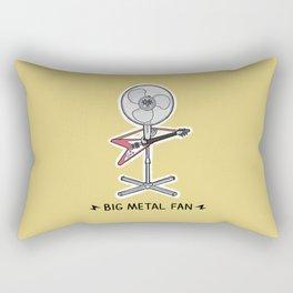 Big Metal Fan Rectangular Pillow