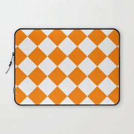 Large Diamonds - White and Orange Laptop Sleeve