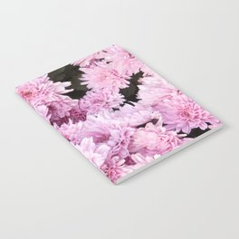 A Sea of Light Pink Chrysanthemums #1 #floral #art #Society6 Notebook