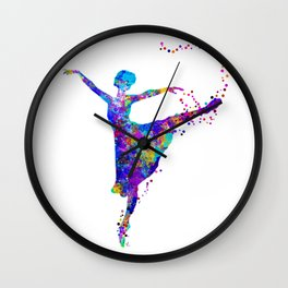 Dance First, Think Later Wall Clock