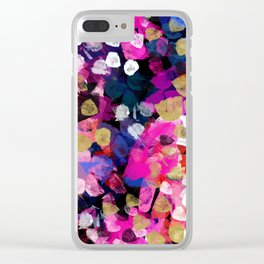 April Abstract Clear iPhone Case