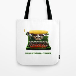 ORGANIC INVENTIONS SERIES: Vintage Smythe-Corn-A Typewriter Tote Bag